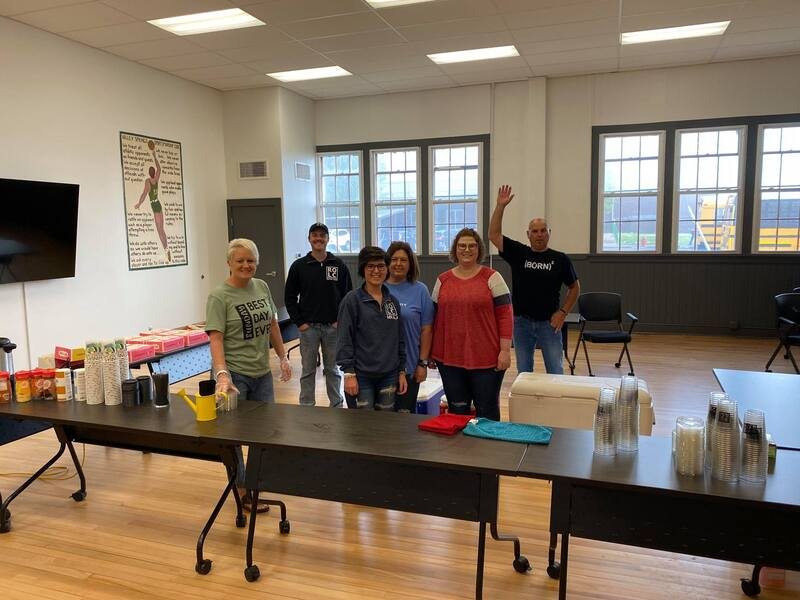 Refreshments provided by River of Life for Teacher Appreciation Week
